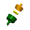 Agriculture water sprinkler pressure compensated dripper