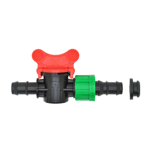 Drip irrigation systems mini valve barbed valve with grommet for irrigation system